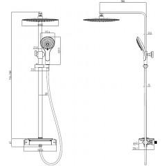 Sprchový set včetně termostatické baterie GRANDE VITA BLACK
