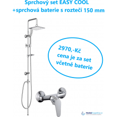 Sprchový set s tropickým deštěm EASY COOL včetně sprchová baterie s roztečí 150mm