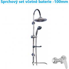 Sprchový set  letní déšť s LED osvětlením včetně baterie-100mm