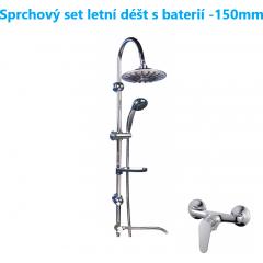 Sprchový set letní déšť s LED osvětlením včetně baterie-150mm