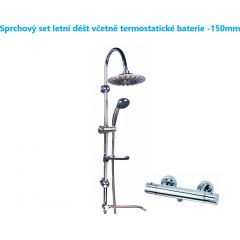 Sprchový set letní déšť s LED osvětlením včetně termostatické baterie-150mm