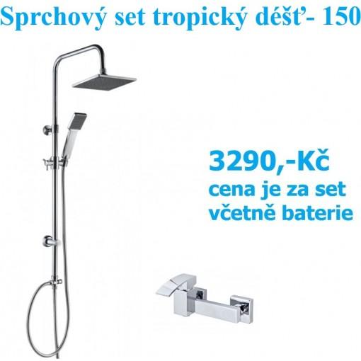 Sprchový set s tropickým deštěm EASY REFRESH  včetně baterie Watefall