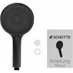 Ruční masážní sprcha 3 režimy sprchování, průměr 130mm, černá/chrom SAMOA RAIN (60956)