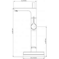 Vanová baterie s připojením do podlahy CELLINO, výška 857mm, chrom