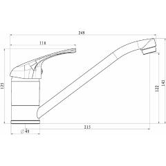 Nízkotlaká dřezová baterie GRANDE VITA CLASSIC, chrom,NI184CR