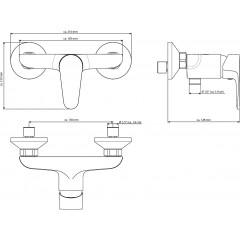 Vodovodní baterie sprchová nástěnná chrom Sprchová baterie Claudio, rozteč 150mm