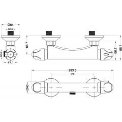 Termostatická sprchová baterie  Vital CLT168VCR