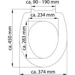 Duroplastové sedátko se zpomalovacím mechanismem SOFT-CLOSE MACHO DOG