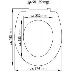 Duroplastové sedátko se zpomalovacím mechanismem SOFT-CLOSE WHITE 82300