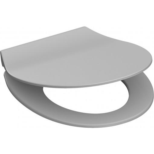 Duroplastové sedátko se zpomalovacím mechanismem SOFT-CLOSE SLIM GREY 82702