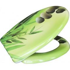 Duroplastové sedátko se zpomalovacím mechanismem SOFT-CLOSE Green Garden