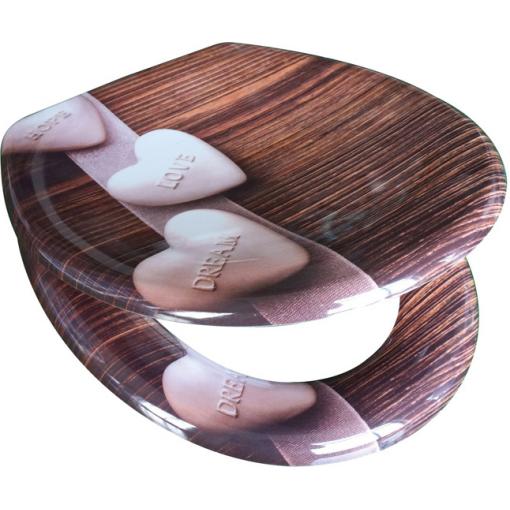 Duroplastové sedátko se zpomalovacím mechanismem SOFT-CLOSE HOPE