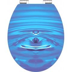Wc sedátko Blue Drop MDF HG se zpomalovacím mechanismem SOFT-CLOSE
