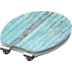 Wc sedátko Blue Wood MDF HG se zpomalovacím mechanismem SOFT-CLOSE