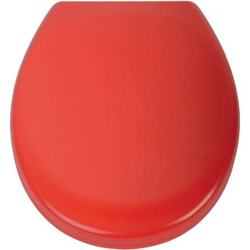 Duroplastové sedátko se zpomalovacím mechanismem SOFT-CLOSE RED