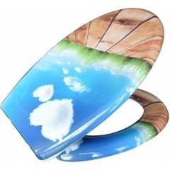 Duroplastové sedátko se zpomalovacím mechanismem SOFT-CLOSE Blue Sky