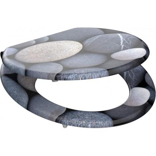 Wc sedátko Grey stones MDF se zpomalovacím mechanismem SOFT-CLOSE
