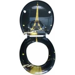 Duroplastové sedátko se zpomalovacím mechanismem SOFT-CLOSE PARIS NIGHT
