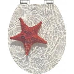 Wc sedátko Red Starfish MDF HG se zpomalovacím mechanismem SOFT-CLOSE