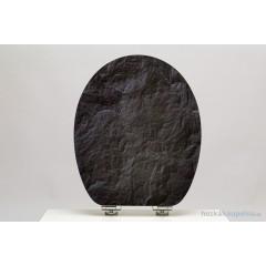 Wc sedátko Black Stone MDF HG se zpomalovacím mechanismem SOFT-CLOSE