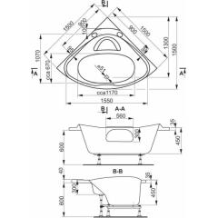 Masážní vana Athéna HYDRO pneu 150x150cm