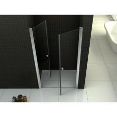 Sprchové dveře PURE D2 90 dvoukřídlé 86-91 x 190 cm