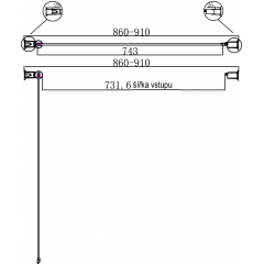 Sprchové dveře PURE 90 jednokřídlé 86-91 x 190 cm čiré sklo