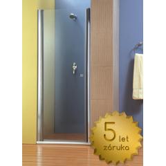 Sprchové dveře PURE 80 jednokřídlé 76-81 x 190 cm, čiré sklo