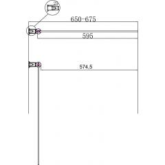 Vanová zástěna PURE V1 65x140cm - jednodílná, čiré sklo