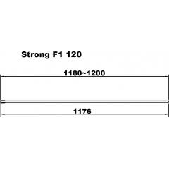 Strong F1 120 Sprchová zástěna Walk-in