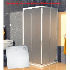 SanSwiss ECOAC 0900 50 22 Sprchový kout čtvercový 90×90 cm, aluchrom/durlux včetně sprchové vaničky z litého mramoru
