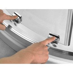 Čtvrtkruhový sprchový kout RELAX S4 120x80 cm s posuvnými dveřmi včetně sprchové vaničky z litého mramoru- pravá varianta