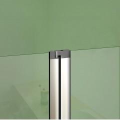 Vanová zástěna s pevnou stěnou V2 100 cm, čiré sklo