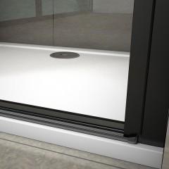 Sprchové dveře jednokřídlé BLACK SAFIR D1 90, 88,7-91,7x 200 cm