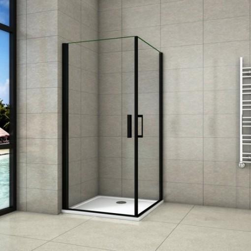 Sprchový kout BLACK SAFIR A2 100cm se dvěma jednokřídlými dveřmi