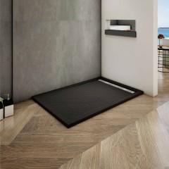 BLACK STAR sprchová vanička z litého mramoru, obdélník, 100x80x3 cm