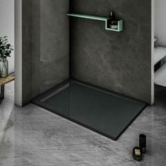BLACK STAR sprchová vanička z litého mramoru, obdélník, 140x80x3 cm