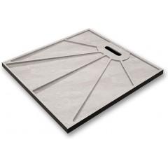 BLACK STAR sprchová vanička z litého mramoru, čtverec, 90x90x3 cm