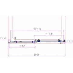 Posuvné sprchové dveře DIAMOND 96-100x195cm L/P varianta