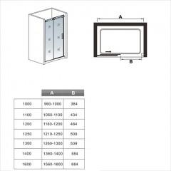 Posuvné sprchové dveře DIAMOND 116- 120x195cm L/P varianta