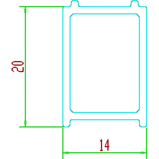 Rozšiřovací profil 20 mm pro sérii Melody F1,Melody B5,Harmony a Diamond