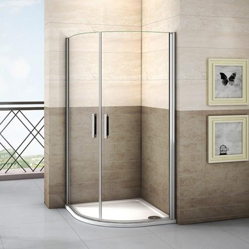 Čtvrtkruhová sprchová zástěna LUREN S2 90 cm, čiré sklo, R550
