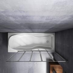 Vanová zástěna pětidílná V5 120, chrom, čiré sklo