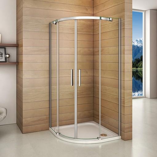 Čtvrtkruhový sprchový kout HARMONY S4 90 cm s dvoudílnými posuvnými dveřmi