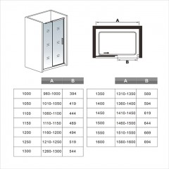 Posuvné sprchové dveře HARMONY B2 155, 151-155x195cm L/P varianta