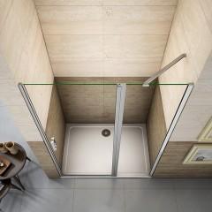 Sprchové dveře LUREN D5 100 jednokřídlé s pevnou stěnou 98-101 x 195 cm