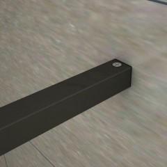 LUSTY BLACK F1 160 Sprchová zástěna WALK IN 158-160x 200cm, 8 mm sklo