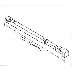 Vzpěra F084 730-1200 mm, pro skla 6-10mm