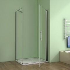 Čtvercový  sprchový kout MELODY A1 90 cm s jednokřídlými dveřmi