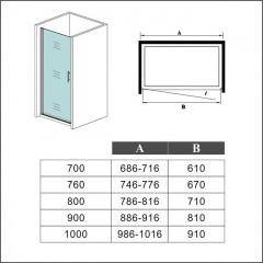Sprchové dveře MELODY D1 80 jednokřídlé dveře 79-82 x 195 cm, sklo GRAPE, levá varianta